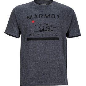 Marmot Republic SS Tee Men Charcoal Heather